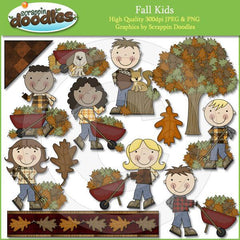 Fall Kids Clip Art Download