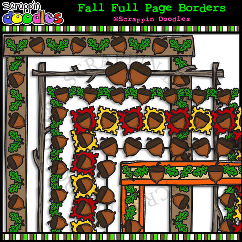 Fall Full Page Borders