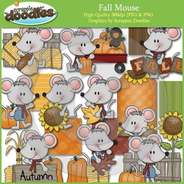 Fall Mouse Clip Art Download