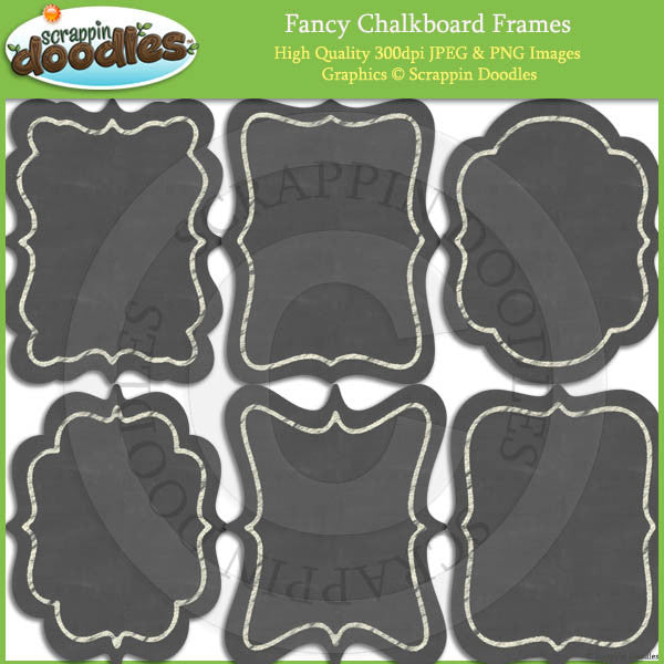 Fancy Chalkboard Frames