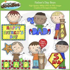 Father's Day Boys Clip Art
