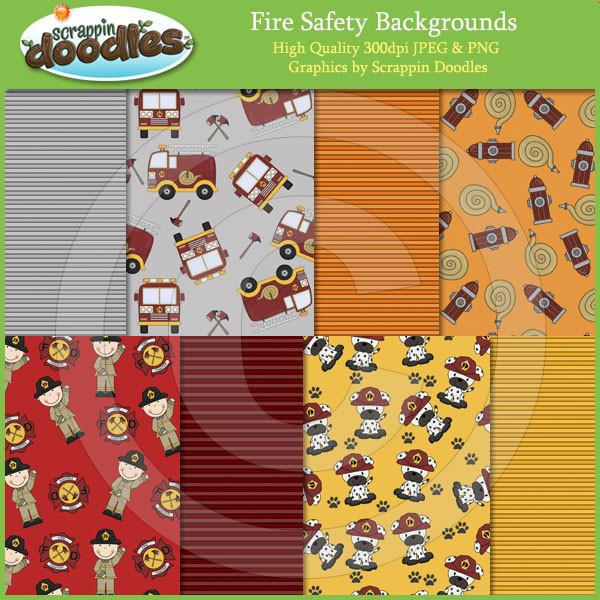 Fire Safety 12x12 Papers & Background Tiles Download