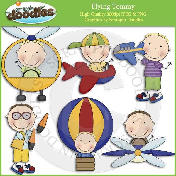 Flying Tommy Clip Art Download