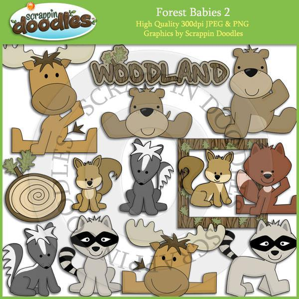 Forest Babies 2 Clip Art Download