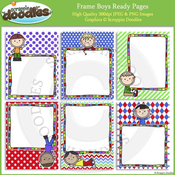 Frame Boys Girls 8 12 X 11 Ready Pages Scrappin Doodles