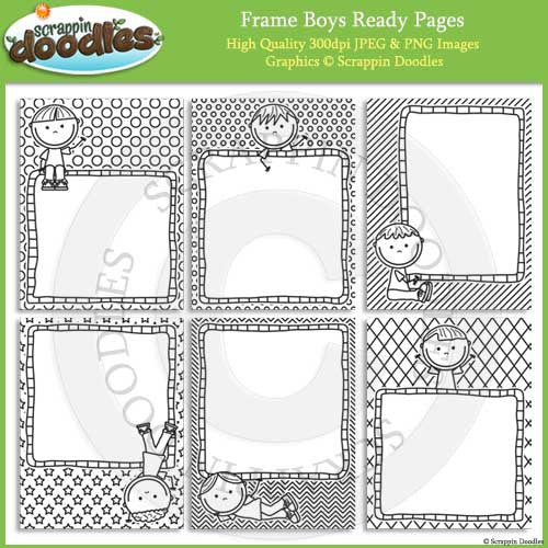 Frame Boys & Girls 8 1/2 x 11 Ready Pages