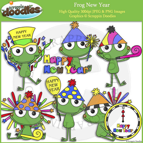 Frog New Year Clip Art