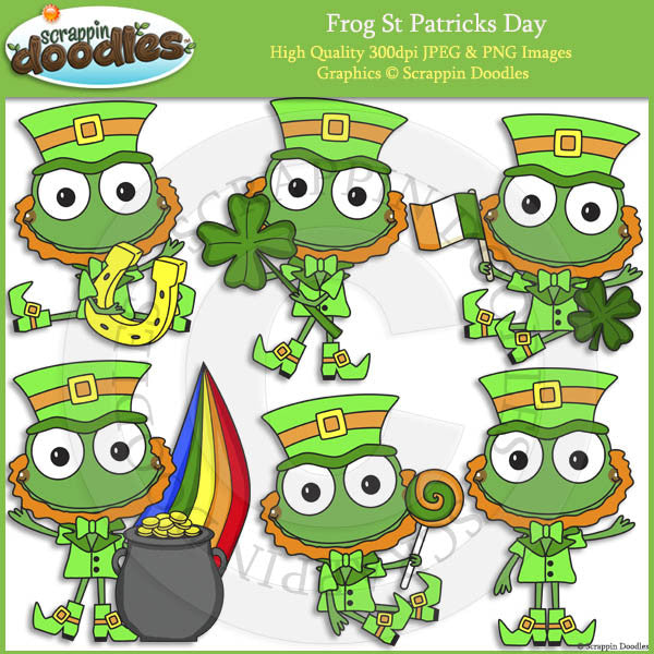 Frog St Patricks Day Clip Art