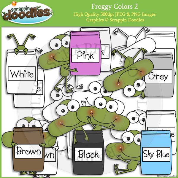Froggy Colors 2 Clip Art & Line Art