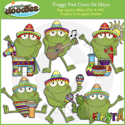 Froggy Fun Cinco De Mayo Clip Art