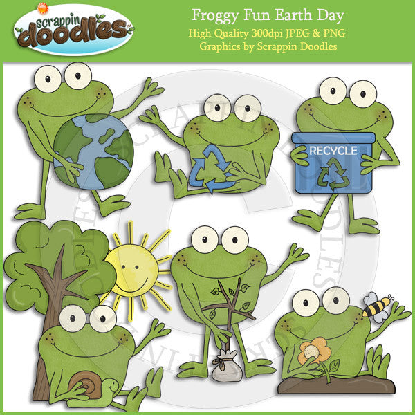 Froggy Fun Earth Day Clip Art Download