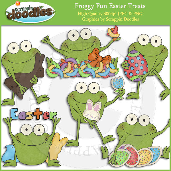 Froggy Fun Easter Treats Clip Art Download