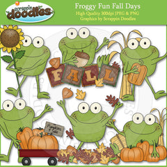 Froggy Fun Fall Days Clip Art