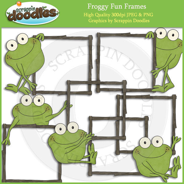 Froggy Fun Frames Clip Art Download