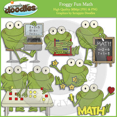 Froggy Fun Math Clip Art Download