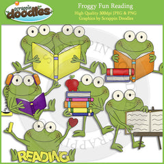 Froggy Fun Reading Clip Art Download