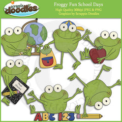 Froggy Fun School Days Clip Art Download