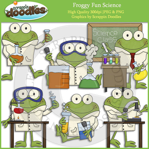 Froggy Fun Science Clip Art Download