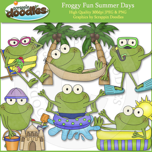 Froggy Fun Summer Days Clip Art