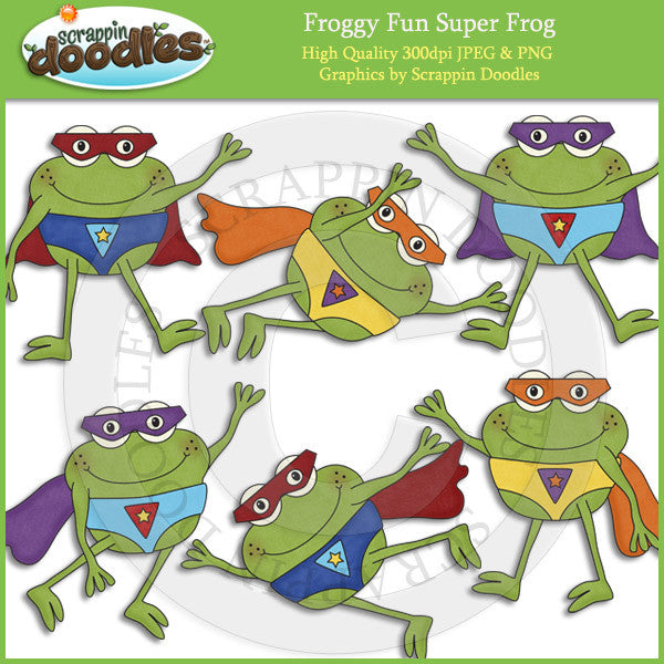 Froggy Fun Super Frogs Clip Art Download