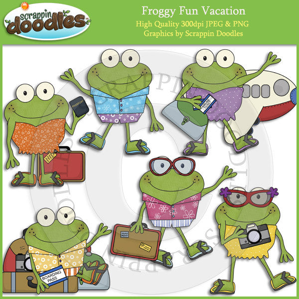 Froggy Fun Vacation Clip Art Download