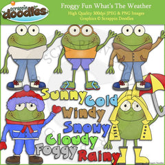 Froggy Fun What's The Weather Clip Art