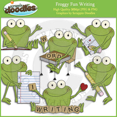 Froggy Fun Writing Clip Art Download