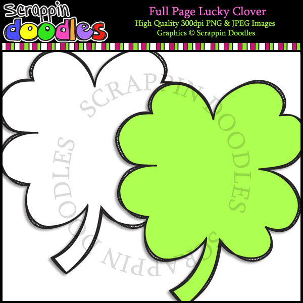 Full Page Lucky Clover