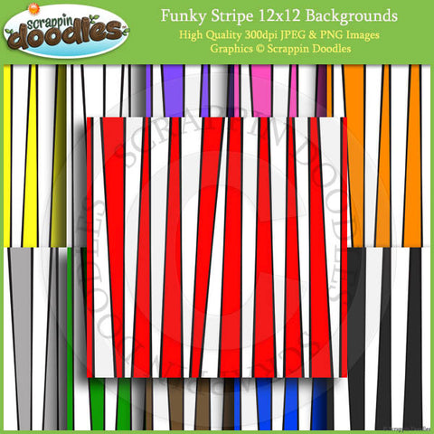 Funky Stripe 12x12 Backgrounds Download