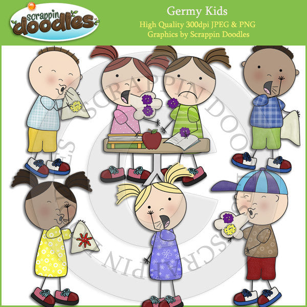 Germy Kids Clip Art Download