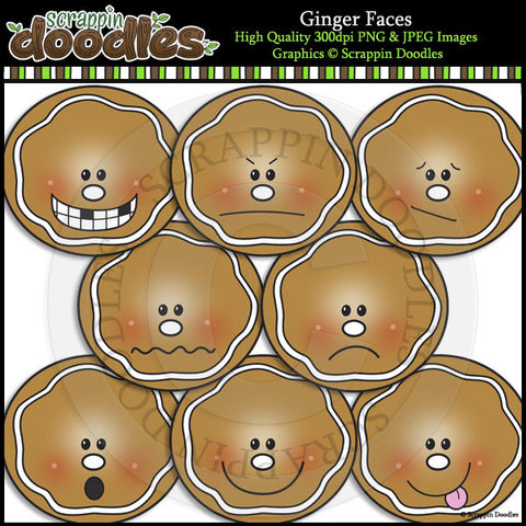 Gingerbread Clip Art & Line Art