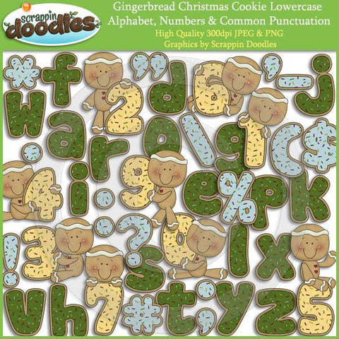 Gingerbread Christmas Cookie Alphabet