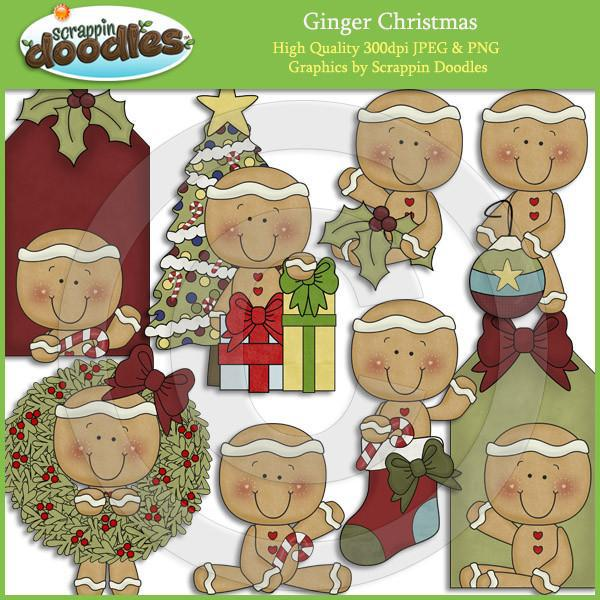 Ginger Christmas Clip Art Download