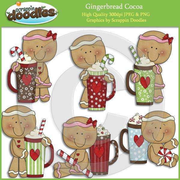 Gingerbread Cocoa Clip Art Download