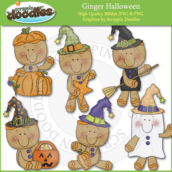 Ginger Halloween Clip Art Download