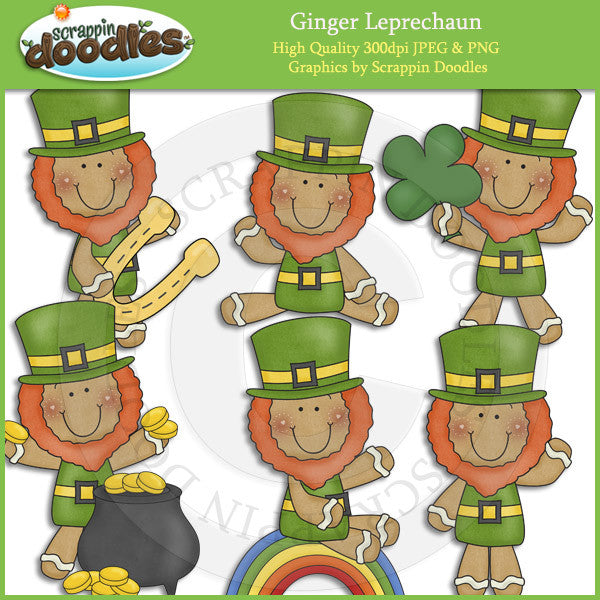 Ginger Leprechaun Clip Art Download