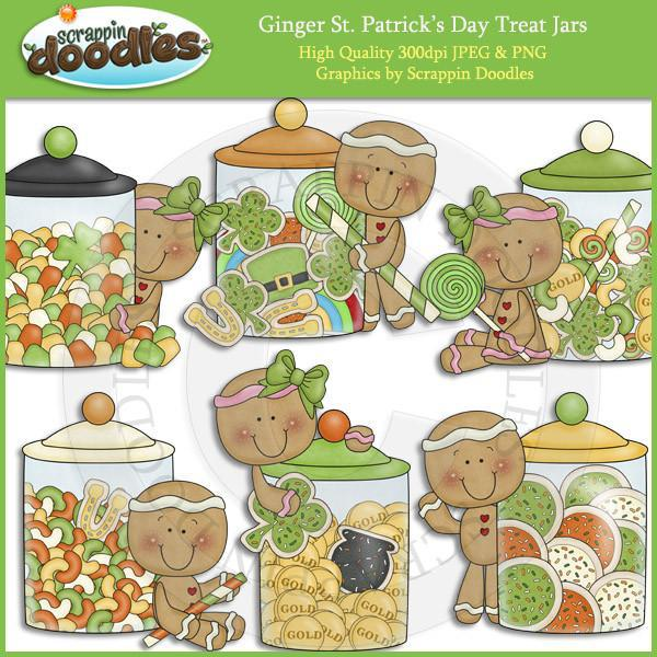 Ginger St Patricks Day Treat Jars Download