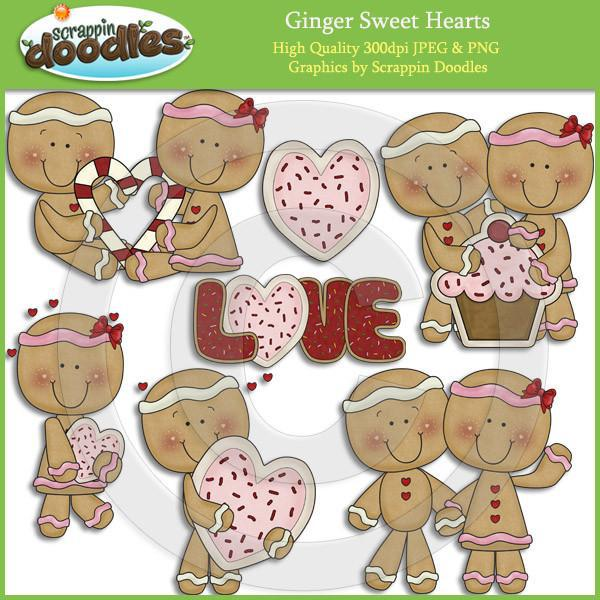 Ginger Sweet Hearts Clip Art Download