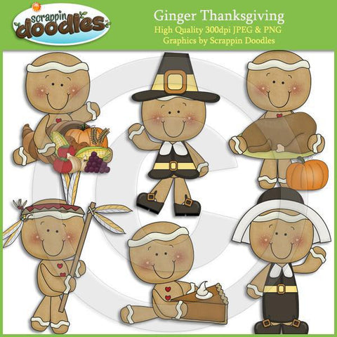 Ginger Thanksgiving Clip Art Download
