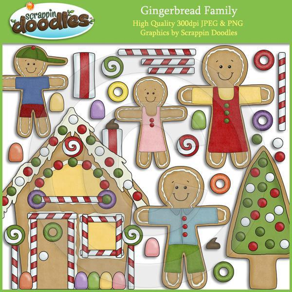 Gingerbread Family Clip Art Download