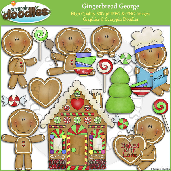 Gingerbread George Clip Art