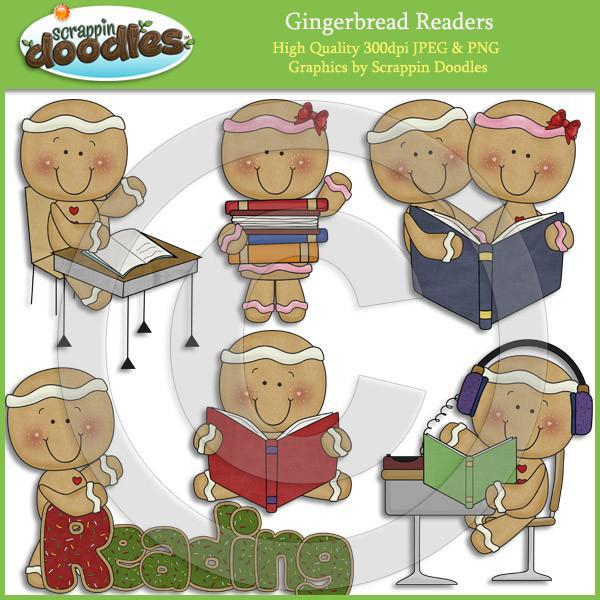 Gingerbread Readers Clip Art Download