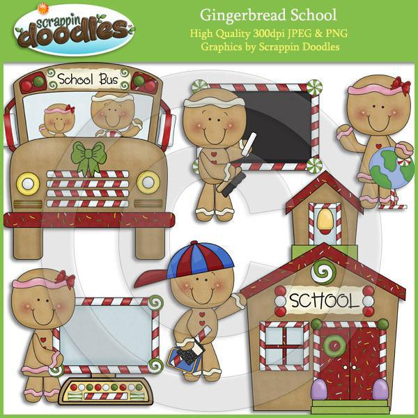 Gingerbread School Clip Art Download