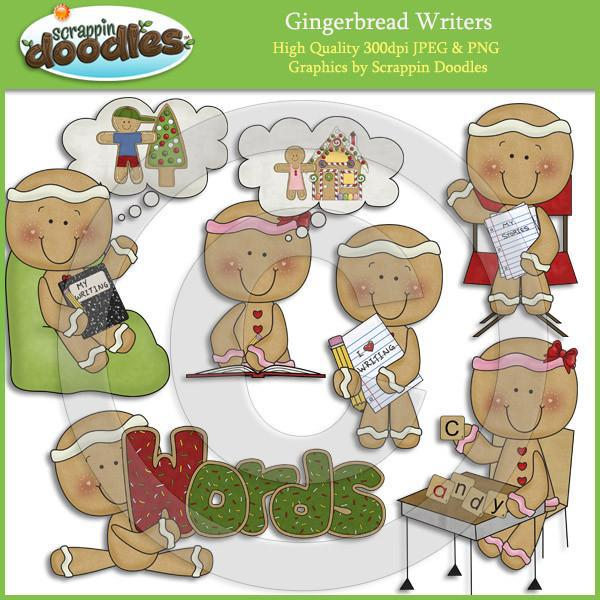 Gingerbread Writers Clip Art Download