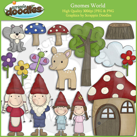 Gnomes World Clip Art Download