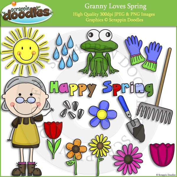 Granny Loves Spring Clip Art