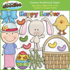 Granny Loves Easter Clip Art Download