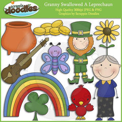 Granny Loves Leprechauns Clip Art Download