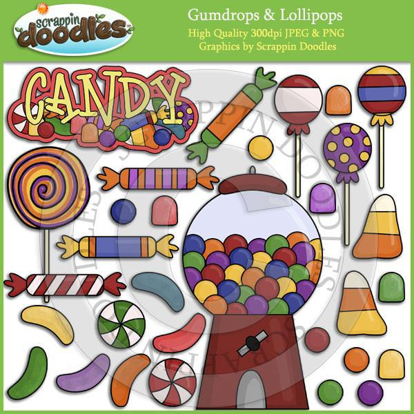 Gumdrops & Lollipops Clip Art Download