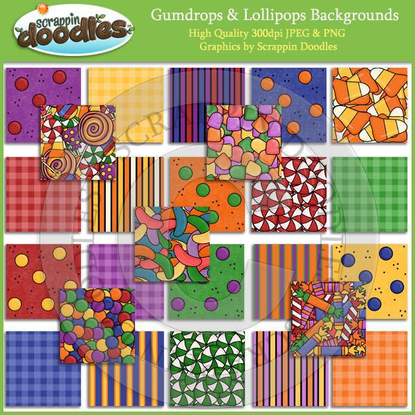 Gumdrops & Lollipops Backgrounds